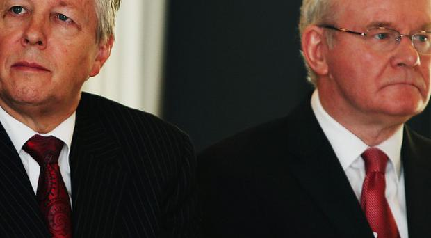 First Minister Peter Robinson (left) and deputy First Minister Martin McGuinness have been criticised over the time taken to get the programme off the ground