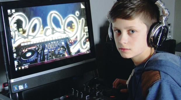 Schoolboy Micky Hopkins has become a regular dance music DJ on the internet station Groovebox