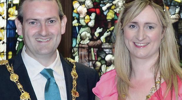 Mayor Martin Reilly and mayoress Bronagh Reilly