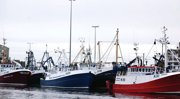 Fishing boats stuck in port at Kilkeel harbour