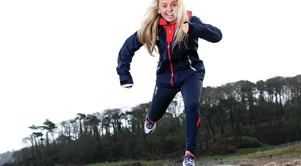 Snowboarder Aimee Fuller helps launch this year's Belfast Telegraph RunHer Coastal 10k.