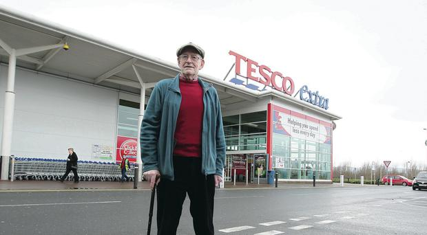 Noel Bell outside the Tesco store in Knocknagoney
