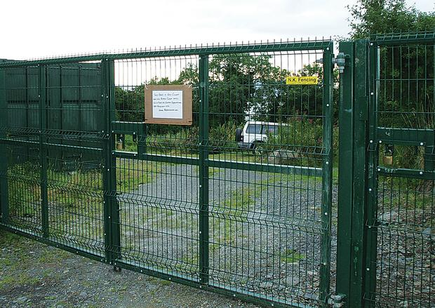 Closed gates on King John's Highway, which sparked the right-of-way row
