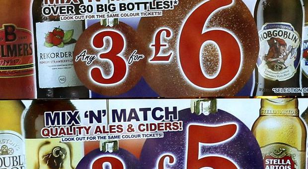 Health Minister Edwin Poots is considering imposing a minimum price on cheap alcohol to protect young people
