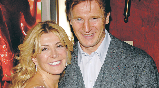 Natasha Richardson and her husband Liam Neeson