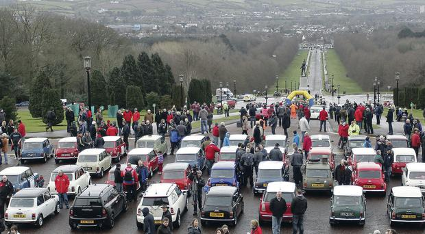 The Mini rally at Stormont