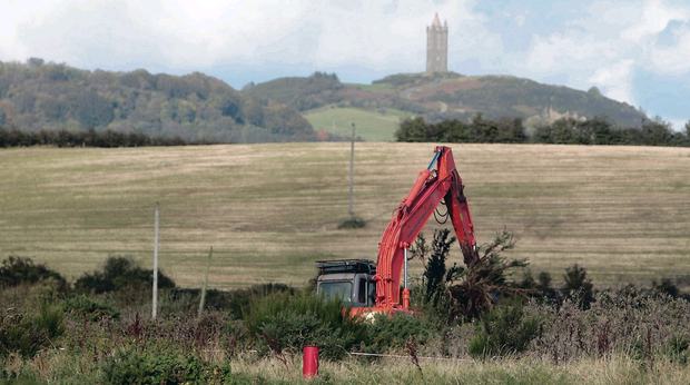 Police investigating the disappearance of Lisa Dorrian dig for a buried vehicle on the Comber farm of shotgun killer Jimmy Seales in October 2012