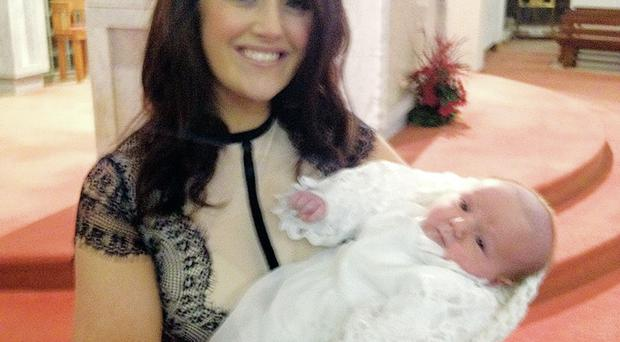 Catherine Hughes with her son Eoin