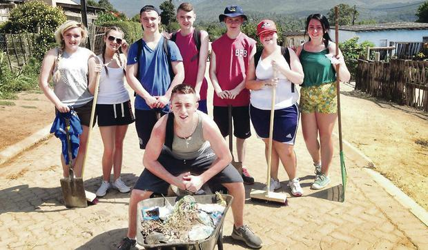 Some of the group in South Africa