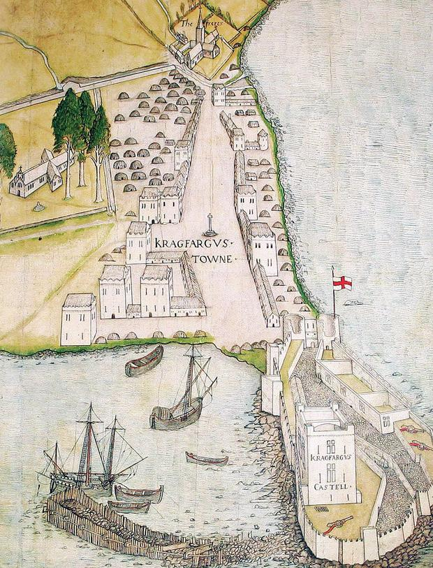 The oldest map of Carrickfergus from 1560