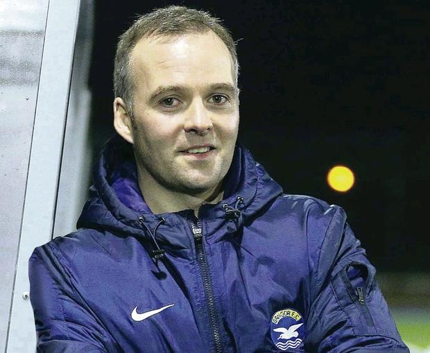 Irish League football manager Garth Scates