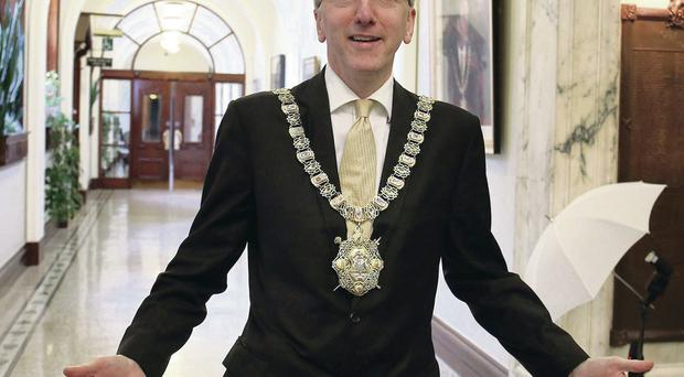 Lord Mayor O Muilleoir has attended events such as the Belfast Mela, Making it in Music, Cake Break and the Waterworks park run