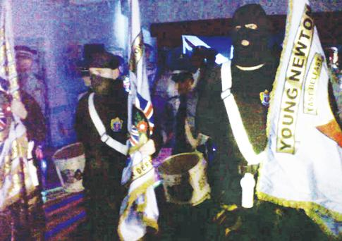 Images of the alleged loyalist display which appeared on the Facebook page of David Craig