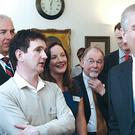 The Duke of York talks to some of the apprentices at the Belfast Telegraph. Picture: William Cherry