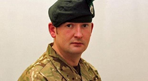 Corporal Geoffrey McNeill was found dead in an accommodation block at Clive Barracks in Shropshire