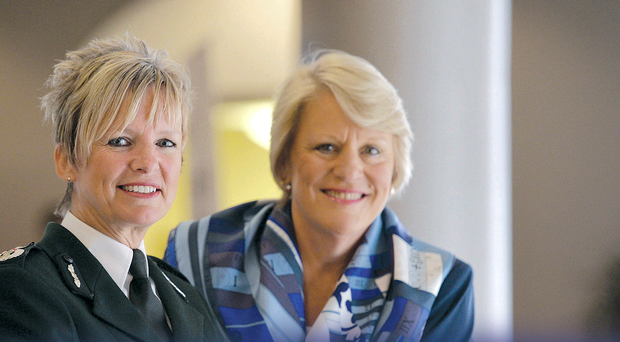 PSNI Deputy Chief Constable Judith Gillespie and Barbara Stephenson, of the American Foreign Service Institute