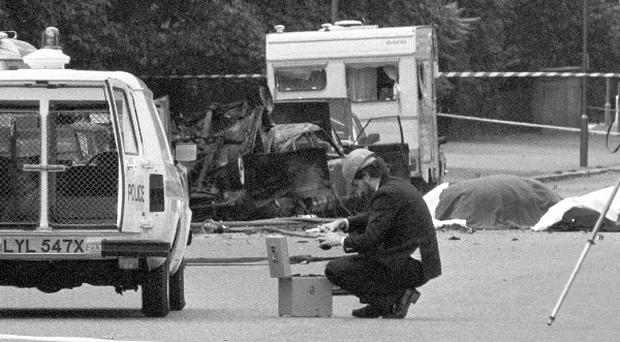 The aftermath of the Hyde Park bomb.