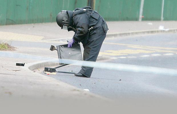 A bomb disposal expert at the scene of the alert in west Belfast