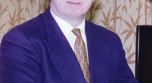 Edward Haughey at work in Norbrook in 1996
