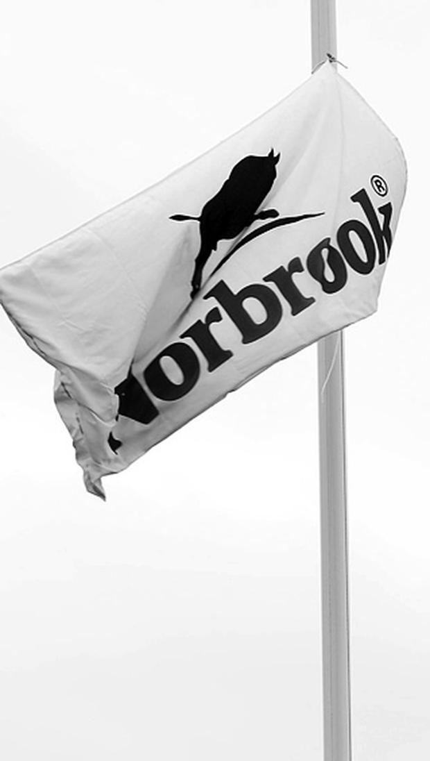 In mourning: flag at Norbrook flying at half mast yesterday
