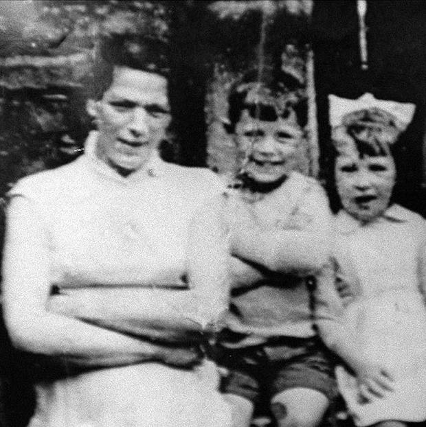 Jean McConville, left, with her children before she vanished in 1972