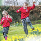 Jessica Calvert and Aaron Calvert from Ballycraigy Primary School in Antrim