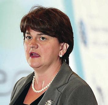 Angry: Arlene Foster