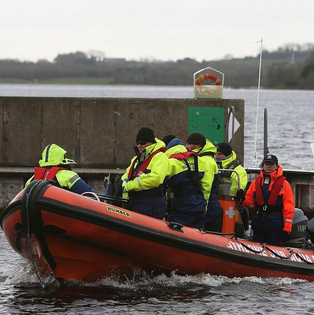 Members of the Athlone sub aqua club return to Hodson Bay had taken part in the search of Lough Ree in Co Westmeath