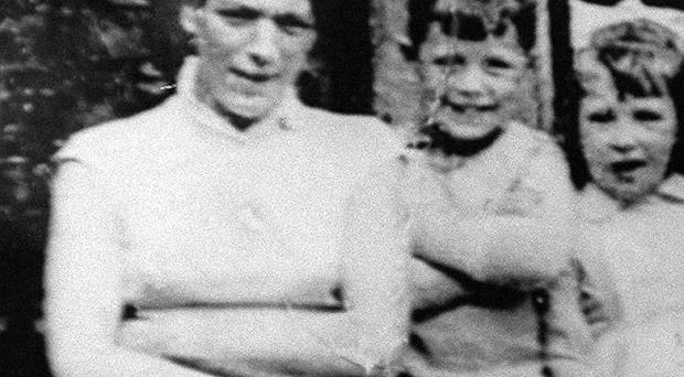 Jean McConville (left) with three of her children before she vanished in 1972.