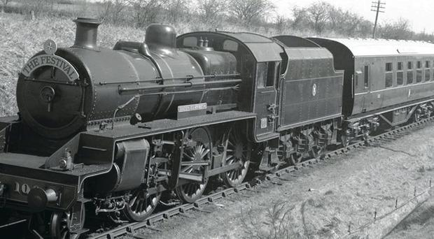 The Festival Express carriage in the 1980s before its restoration