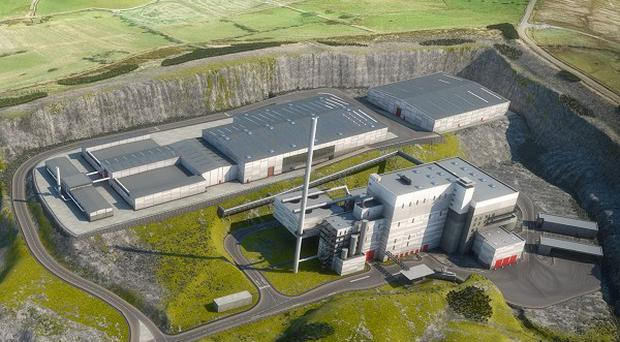 An artist's impression of a major centre to recycle and turn waste into energy which is set to be built near Belfast.