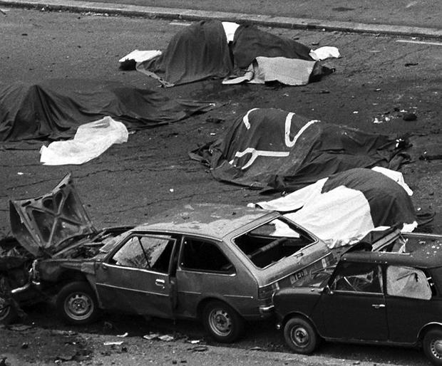 The aftermath of the Hyde Park bombing