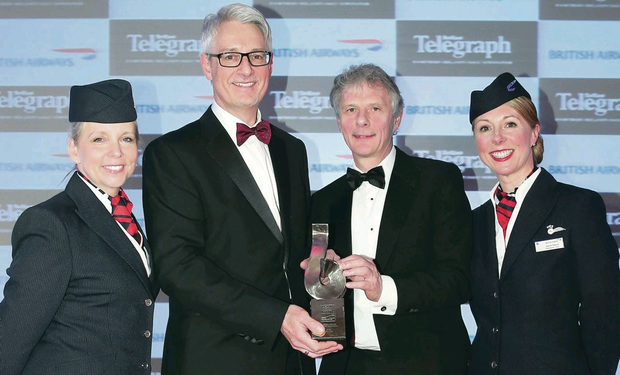 Christine Wright, British Airways ambassador, Mark Nodder, managing director of Wrightbus, Keith Williams, executive chairman for British Airways and Jayne Deasy, BA ambassador