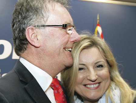 Party leader Mike Nesbitt MLA and wife Lynda at the Ulster Unionist Party spring conference