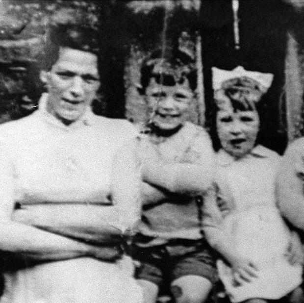 Jean McConville, left, pictured with some of her 10 children