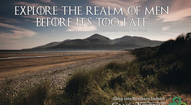 Images from the new Game Of Thrones-themed advertising campaign for Tourism Ireland