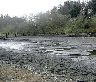Portavoe Reservoir after it was drained