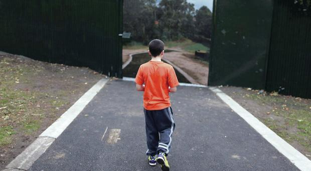 The Peace Gate on the peace line in Alexandra Park in north Belfast. Pic David Fitzgerald