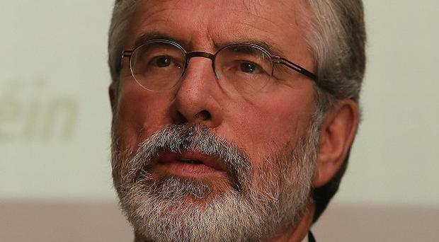 Gerry Adams said it was unacceptable for a member of the House of the Lords to openly support the shooting of a political leader
