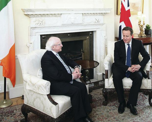 David Cameron said he was 'really excited' about joint projects between Britain and Ireland