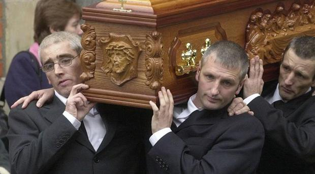 The funeral of Jean McConville in November 2003