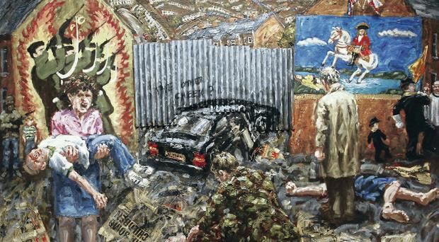 Some of the work featured at the Art Of The Troubles exhibition at the Ulster Museum