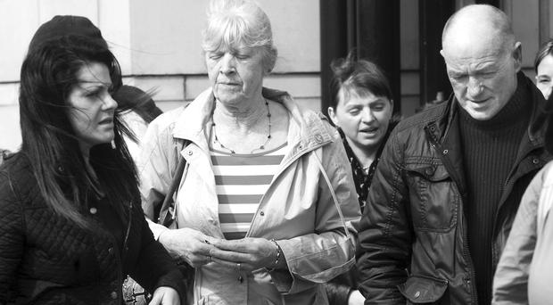 Philip's mother leaves Belfast Crown Court with family members