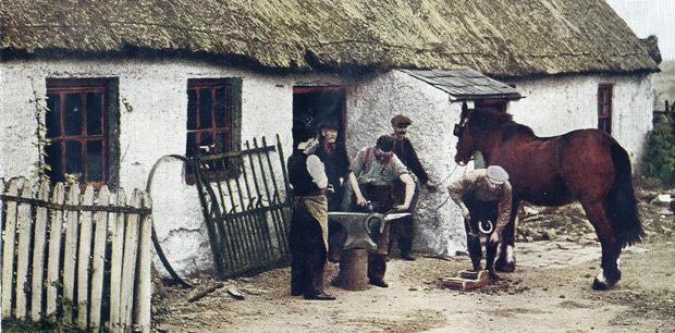 A photograph of the McLean smithy which was once a hive of activity on Carnmoney Hill