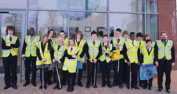 Some of the Lagan College pupils who helped ou