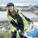 Clean-up teams sweeping the beaches of beautiful Rathlin Island