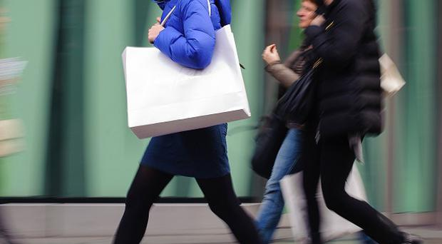 Shopper numbers in March were 2% higher than a year ago, figures show