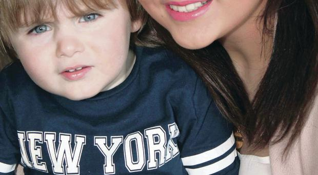 Lauren McGee with her three-year-old son Tyler