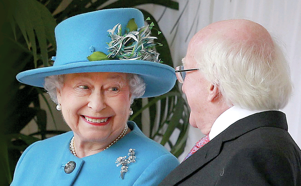 The Queen meeting President Michael D Higgins