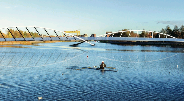 One of three deigns shortlisted for a footbridge over the River Lagan